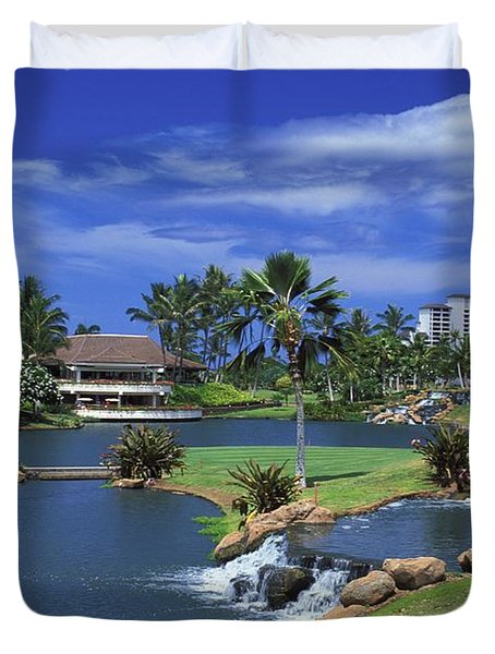 KoOlinas 18th Hole Duvet Cover by Peter French - Printscapes
