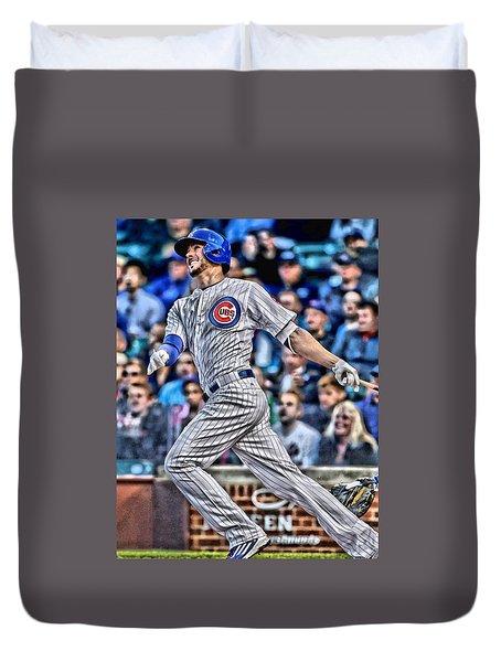 Kris Bryant Chicago Cubs Duvet Cover by Joe Hamilton