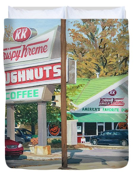 Krispy Kreme At Daytime Duvet Cover by Tommy Midyette