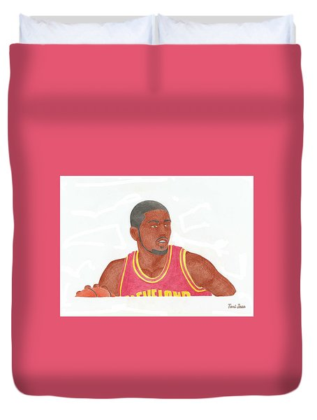 Kyrie Irving Duvet Cover by Toni Jaso