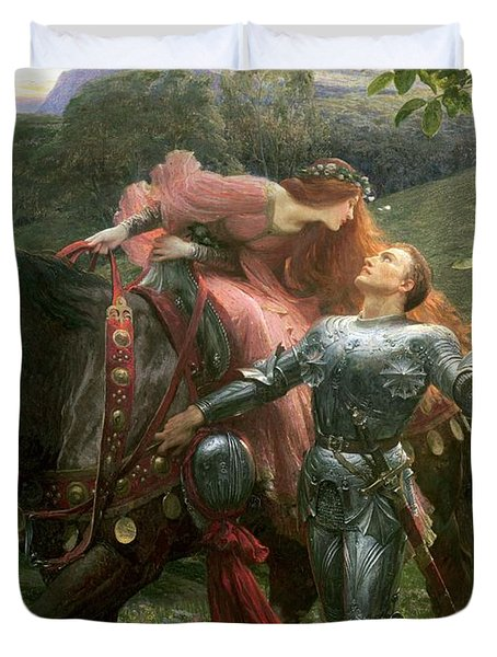 La Belle Dame Sans Merci Duvet Cover by Sir Frank Dicksee