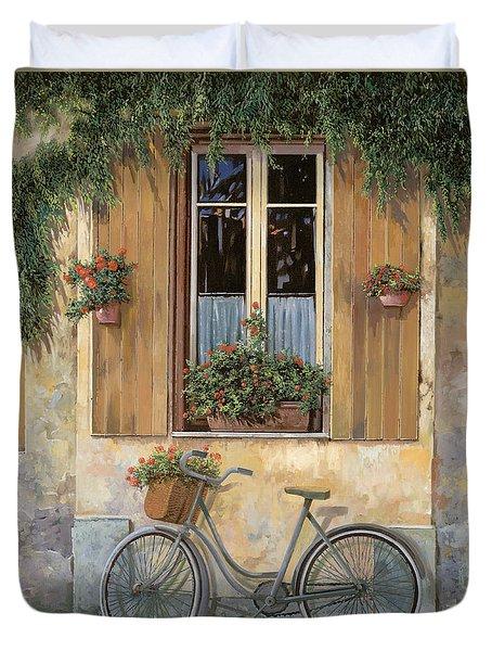 la bici Duvet Cover by Guido Borelli