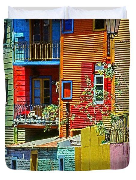 La Boca - Buenos Aires Duvet Cover by Juergen Weiss