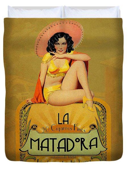 la Matadora Duvet Cover by Cinema Photography