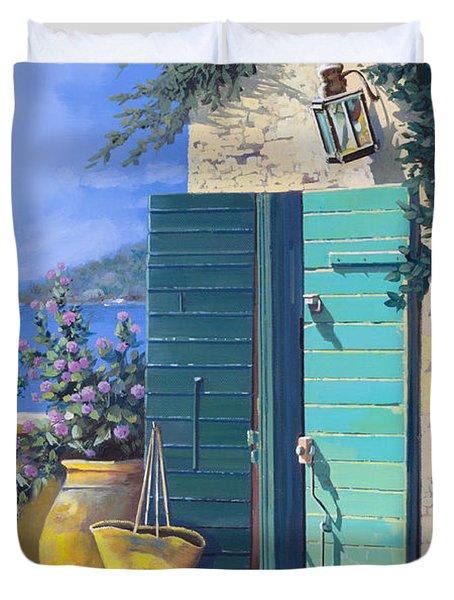 La Porta Verde Duvet Cover by Guido Borelli