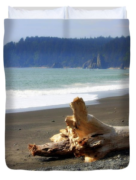 La Push Beach  Duvet Cover by Carol Groenen