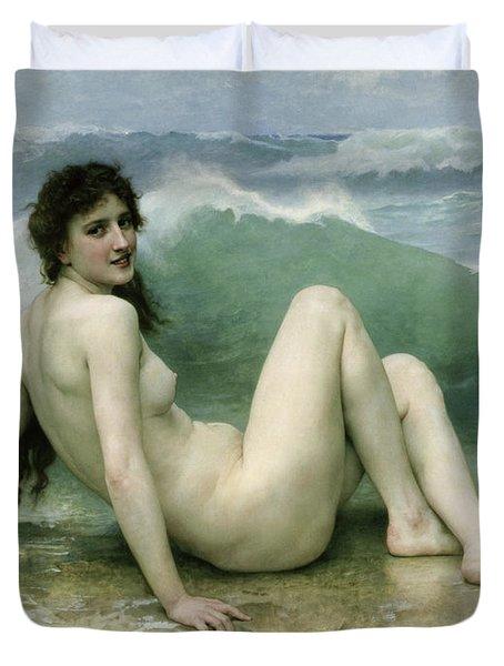 La Vague Duvet Cover by William Adolphe Bouguereau