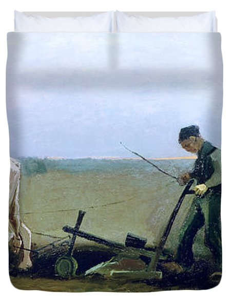 Labourer And Peasant  Duvet Cover by Vincent van Gogh