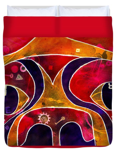Labstract Duvet Cover by Roger Wedegis