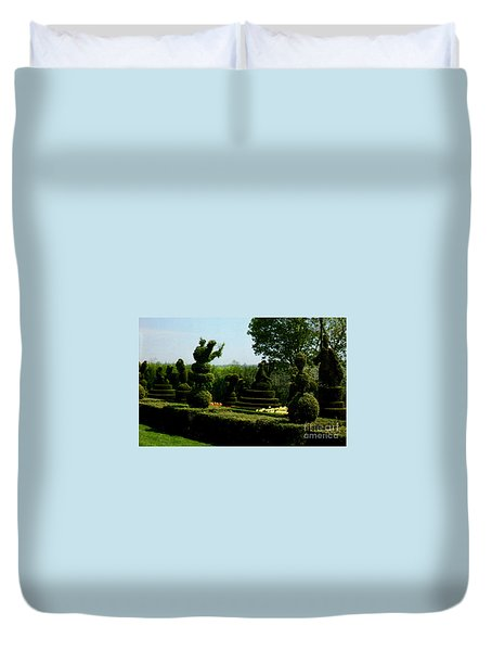 Ladew Topiary Gardens Duvet Cover by Ruth  Housley