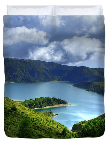 Lake in the Azores Duvet Cover by Gaspar Avila