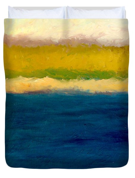 Lake Michigan Beach Abstracted Duvet Cover by Michelle Calkins