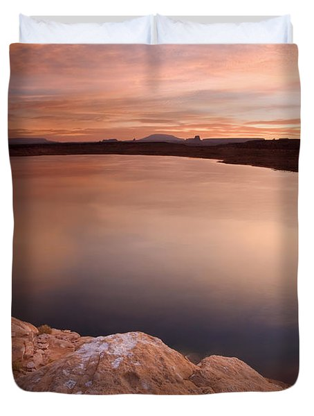 Lake Powell Dawn Duvet Cover by Mike  Dawson