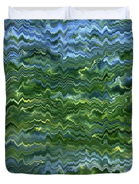 Lake Tahoe Abstract Duvet Cover by Carol Groenen