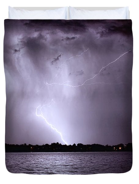 Lake Thunderstorm Duvet Cover by James BO  Insogna