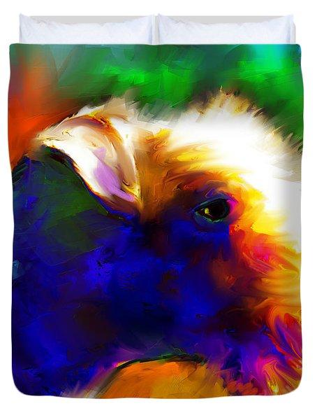Lakeland Terrier Dog Painting Print Duvet Cover by Svetlana Novikova