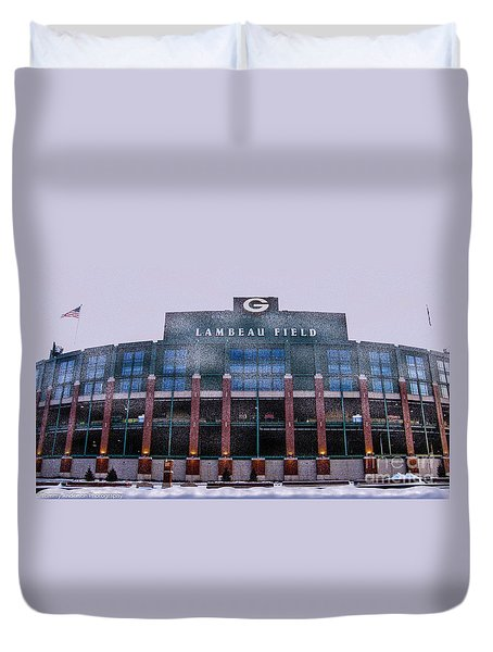 Lambeau  Duvet Cover by Tommy Anderson