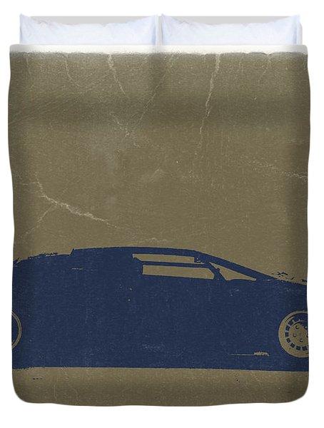 Lamborghini Countach Duvet Cover by Naxart Studio