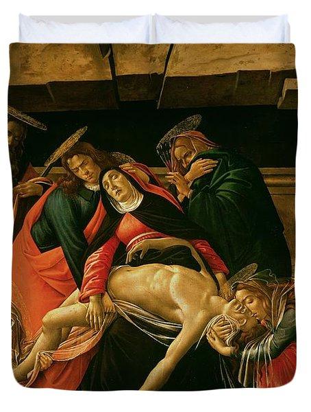 Lamentation Of Christ Duvet Cover by Sandro Botticelli