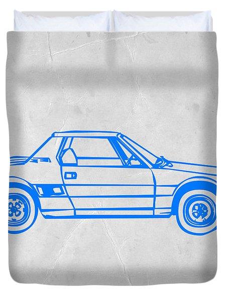 Lancia Stratos Duvet Cover by Naxart Studio