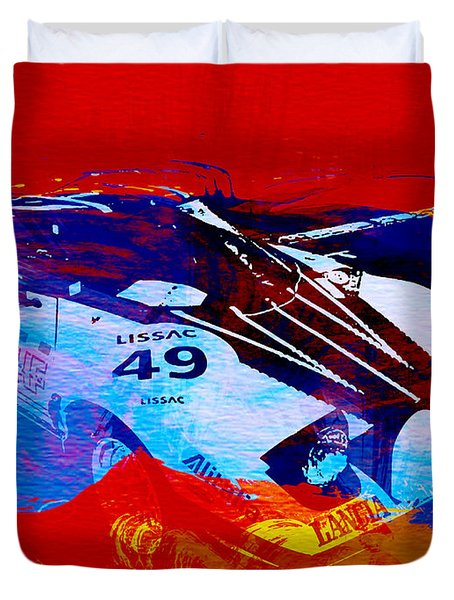 Lancia Stratos Watercolor 2 Duvet Cover by Naxart Studio