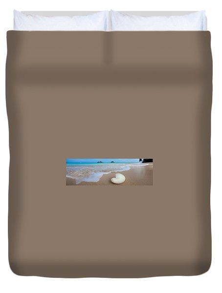 Lanikai Paper Nautilus Duvet Cover by Sean Davey