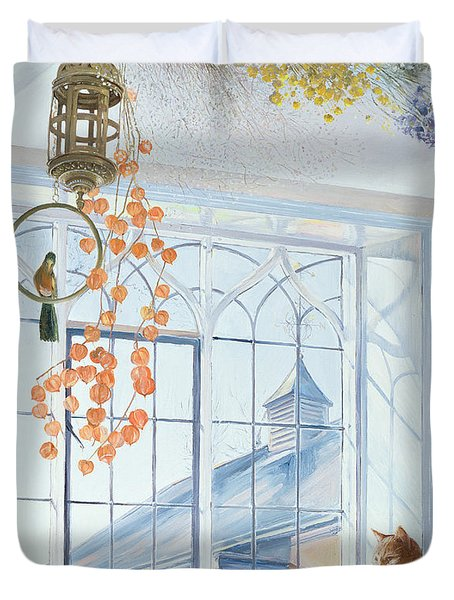 Lanterns Duvet Cover by Timothy Easton