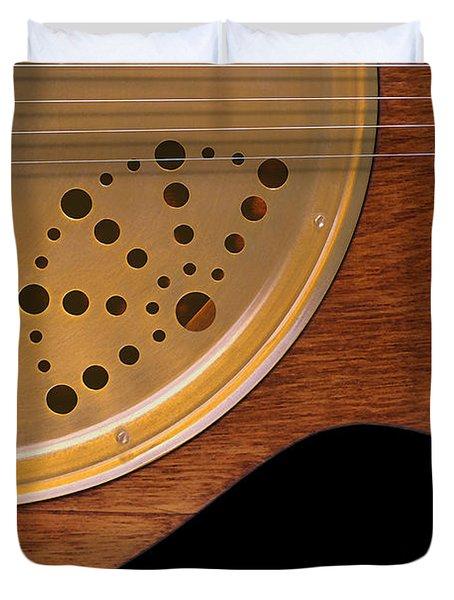 Lap Guitar I Duvet Cover by Mike McGlothlen