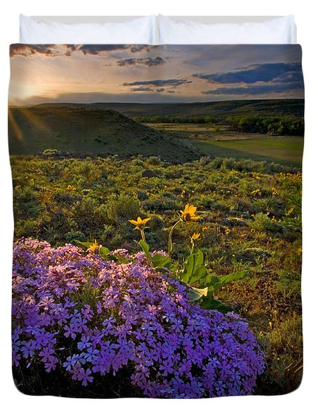 Last Light of Spring Duvet Cover by Mike  Dawson