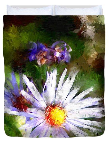 Last Rose Of Summer Duvet Cover by David Lane