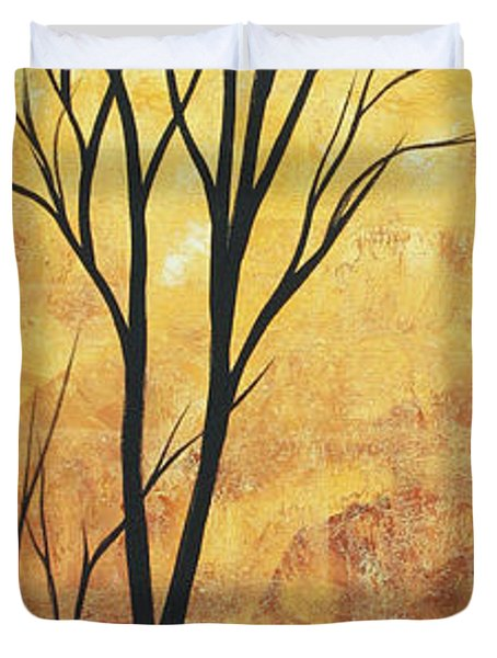 Last Tree Standing By Madart Duvet Cover by Megan Duncanson