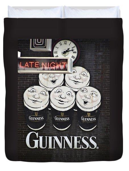 Late Night Guinness Limerick Ireland Duvet Cover by Teresa Mucha