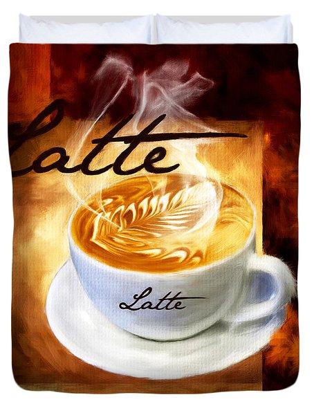 Latte Duvet Cover by Lourry Legarde