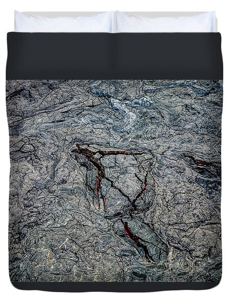 Duvet Cover featuring the photograph Lava by M G Whittingham