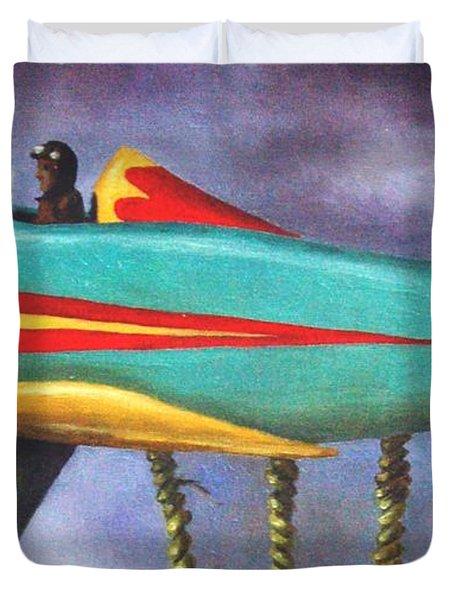 Lazy Bird Plane Detail Duvet Cover by Leah Saulnier The Painting Maniac