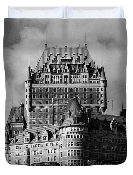 Le Chateau Frontenac - Quebec City Duvet Cover by Juergen Weiss
