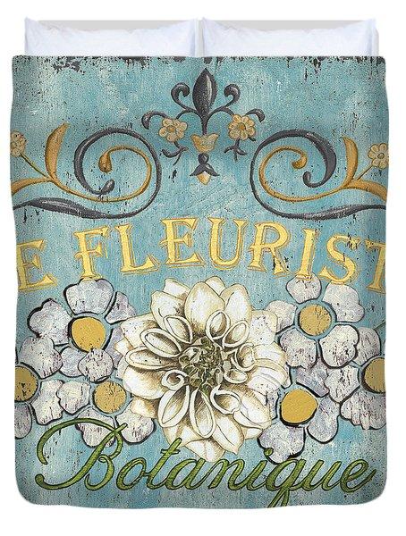 Le Fleuriste de Bontanique Duvet Cover by Debbie DeWitt