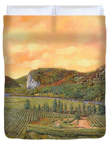 le vigne nel 2010 Duvet Cover by Guido Borelli