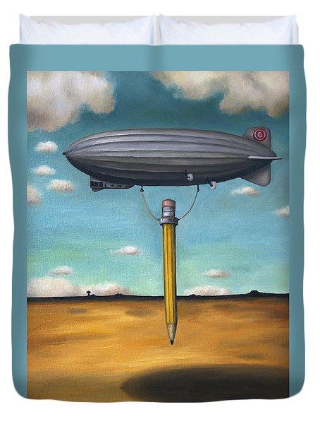 Lead Zeppelin Duvet Cover by Leah Saulnier The Painting Maniac