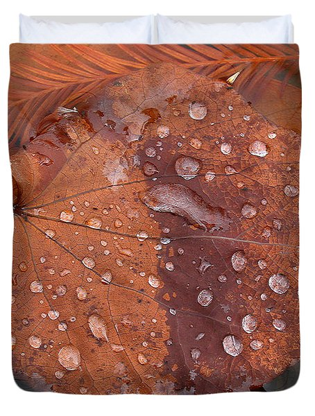 Leaf Blues Duvet Cover by Juergen Roth