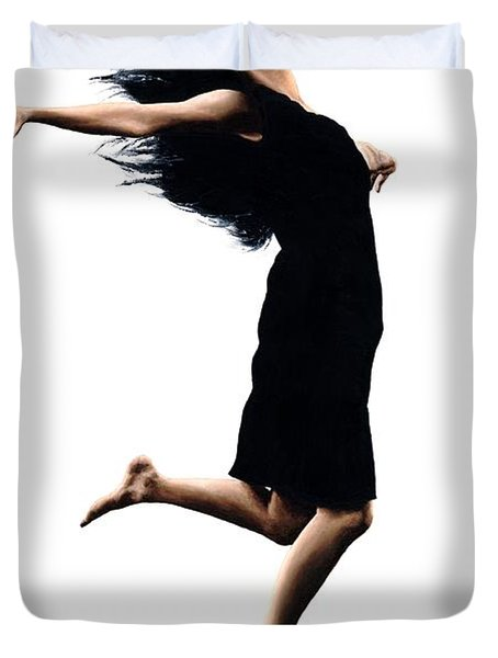 Leap into the Unknown Duvet Cover by Richard Young