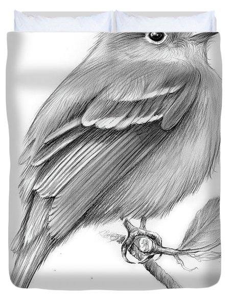 Least Flycatcher Duvet Cover by Greg Joens
