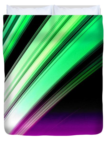 Leaving Saturn In Pink And Mint Duvet Cover by Pet Serrano
