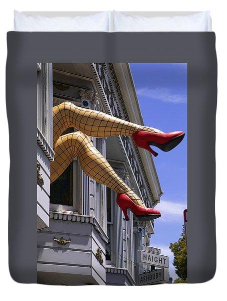 Legs Haight Ashbury Duvet Cover by Garry Gay