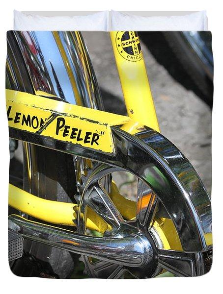 Lemon Peeler Duvet Cover by Lauri Novak