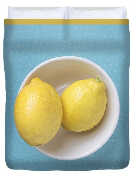 Lemon Pop Duvet Cover by Edward Fielding