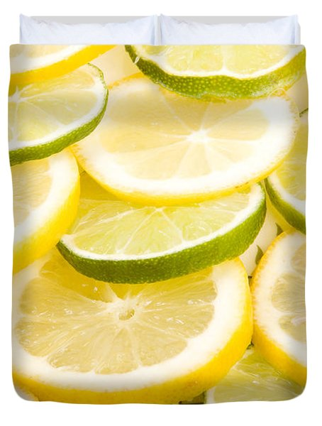 Lemons And Limes Duvet Cover by James BO  Insogna
