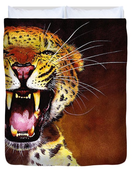 Leopard Duvet Cover by Paul Dene Marlor