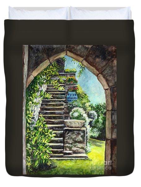 Les Escaliers En Bandouille In Sevres France  Duvet Cover by Carol Wisniewski