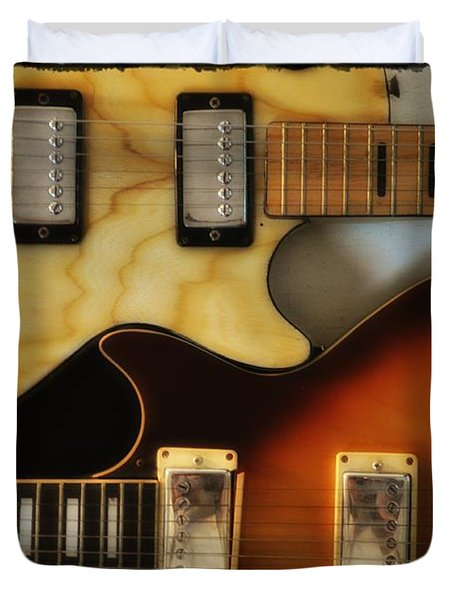 Les Paul - Come Together Duvet Cover by Bill Cannon